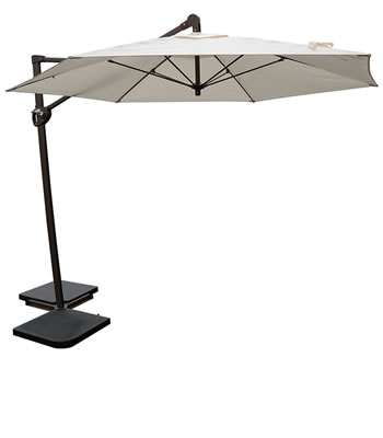 010611 10' Cantilever trigger-lift umbrella