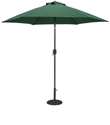 636B 9' Aluminum Bronze Market Umbrella