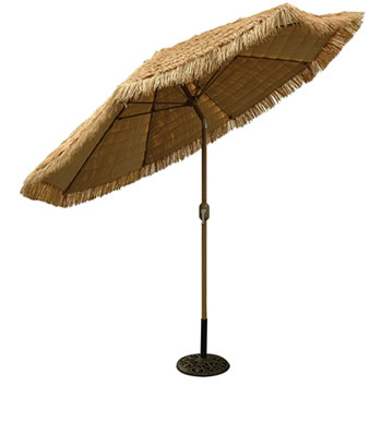 636HC 9' Aluminum Honey Champagne Market Umbrella