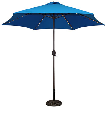 637B 9' Aluminum Bronze Market Umbrella