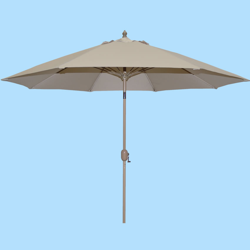 633HC 9' Honey Champagne Aluminum Market Umbrella